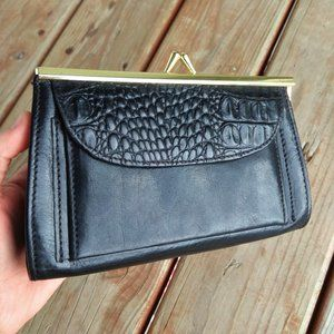 Brahmin Vintage Black Two Texture Coinpurse